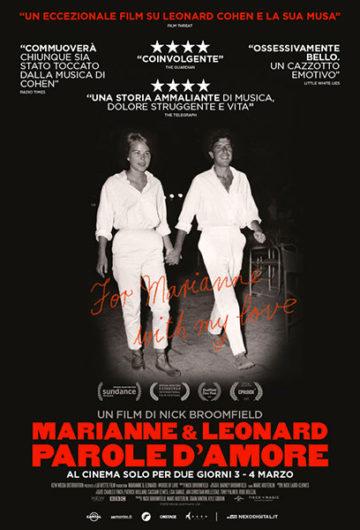 Locandina MARIANNE & LEONARD PAROLE D'AMORE